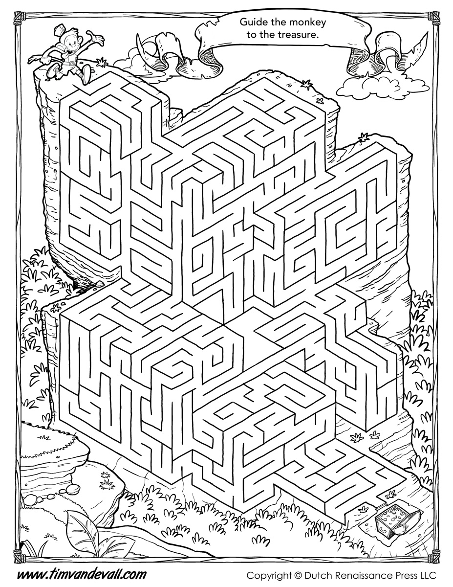 worksheet Kids Maze Worksheet free maze printable activity for kids printable