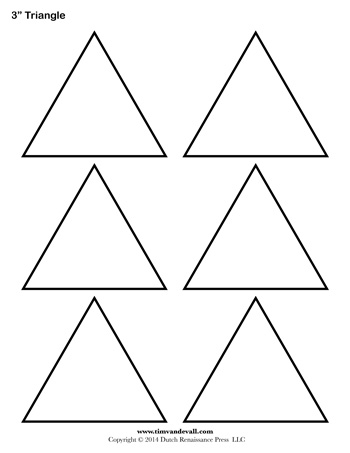 Triangle Templates - 3 Inch - Tim\'s Printables
