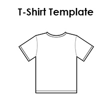 picture regarding T Shirt Pattern Printable referred to as Blank T Blouse Templates PDF