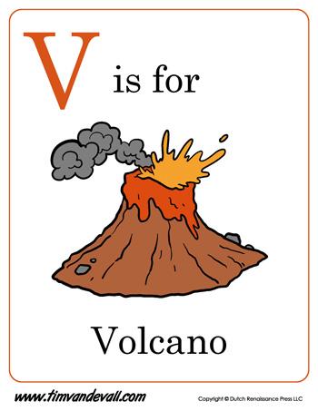v is for volcano