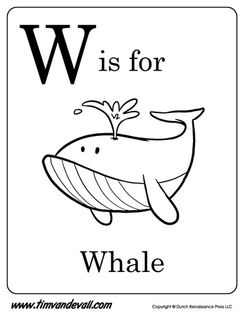 Letter W Coloring Pages Printable  Coloring Pages For Kids and