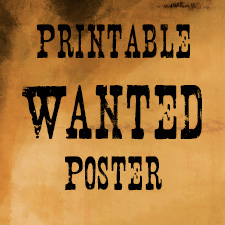 Timu0027s Printables  Free Wanted Poster Template Download