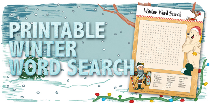 Printable Winter Word Search for Kids