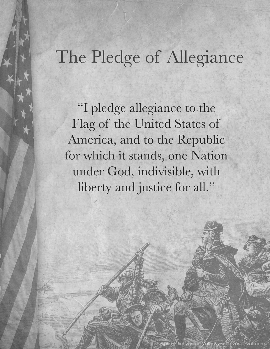 Adorable image pertaining to pledge of allegiance printable