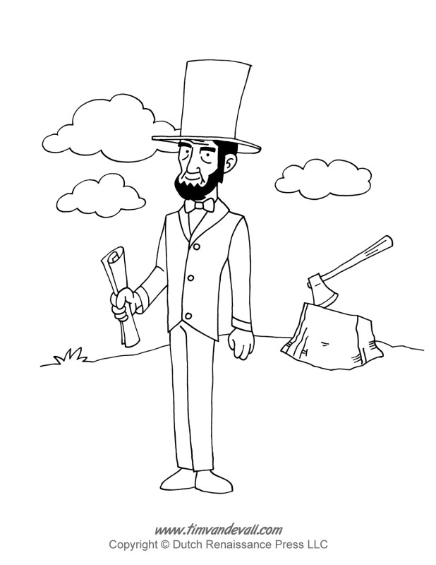 Abraham Lincoln Coloring Page - Tim's Printables