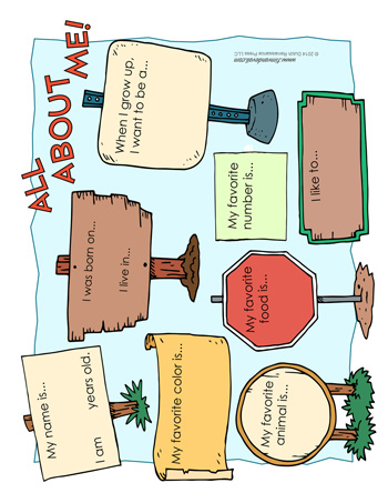 all about me worksheet tims printables