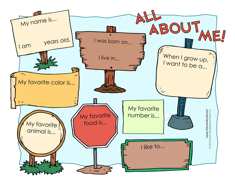 worksheet About Me Worksheet all about me worksheet printable printable