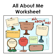 Worksheets All About Me Worksheet all about me worksheet printable