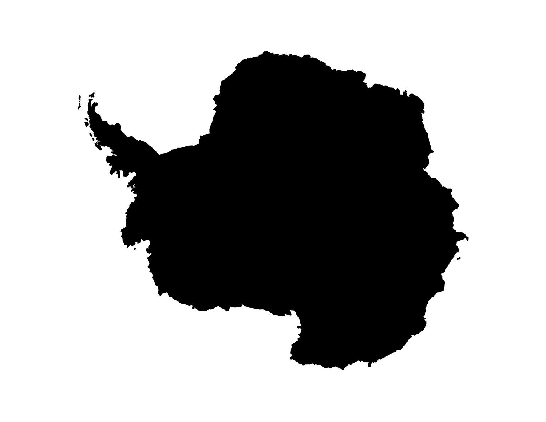 Blank Antarctica Map Printable