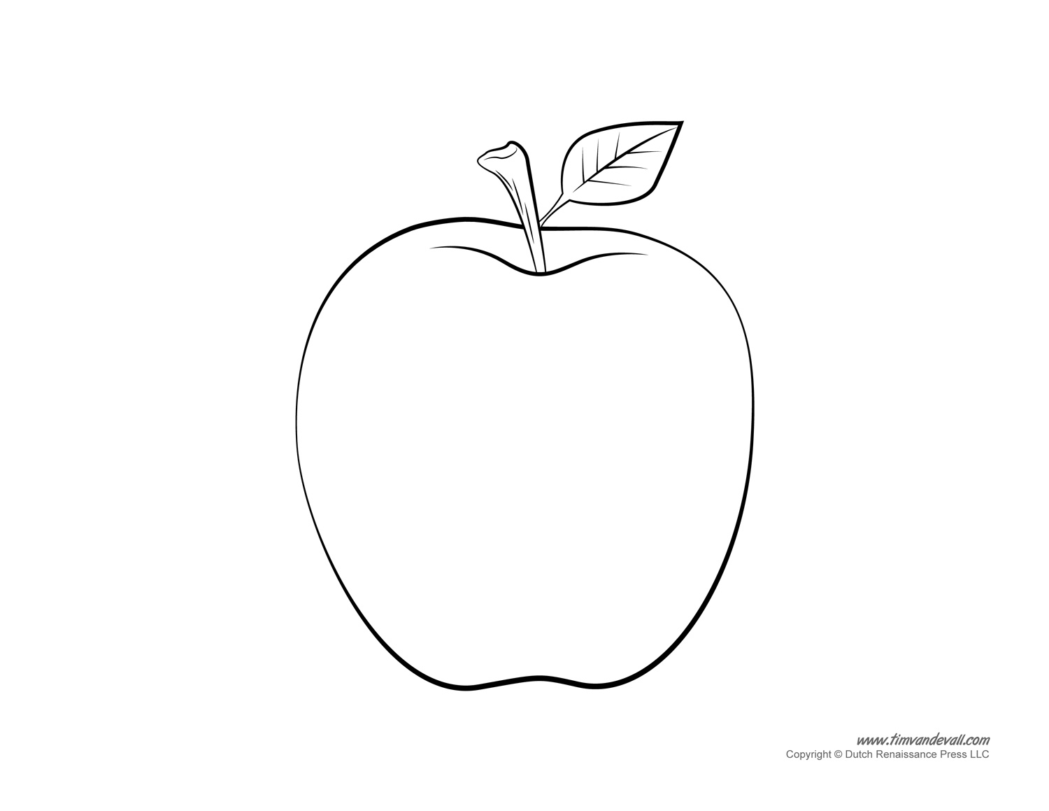 Apple Templates Coloring Pages