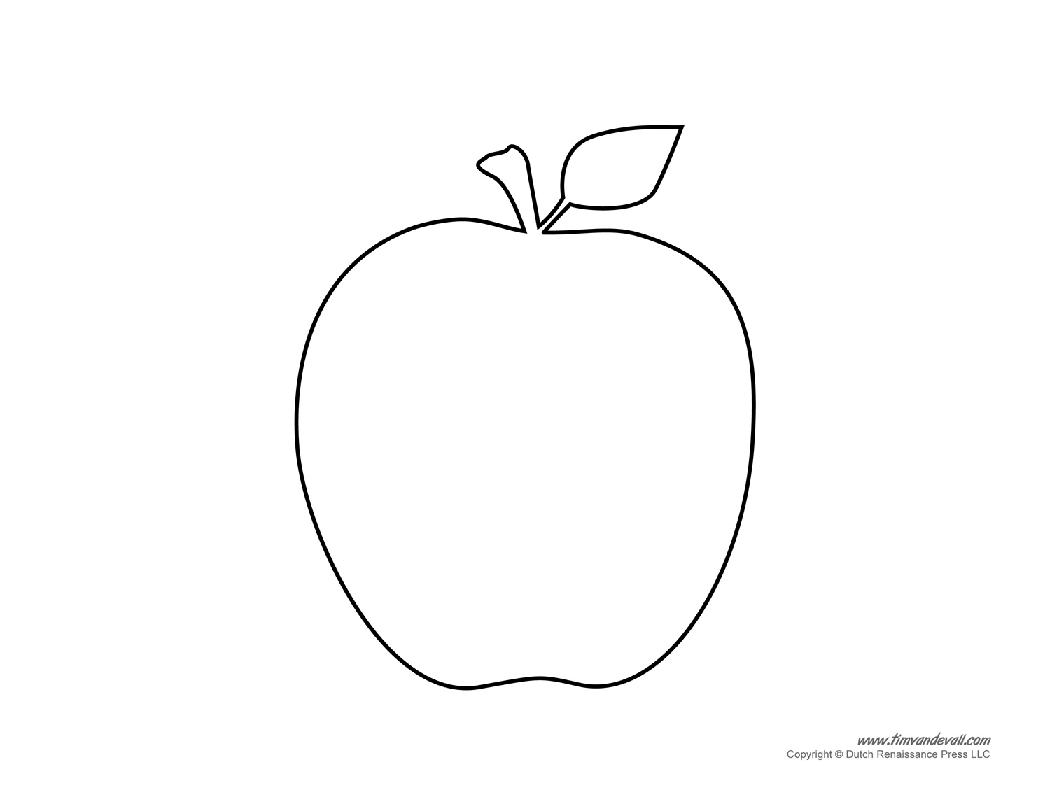 Sassy image inside printable apple template