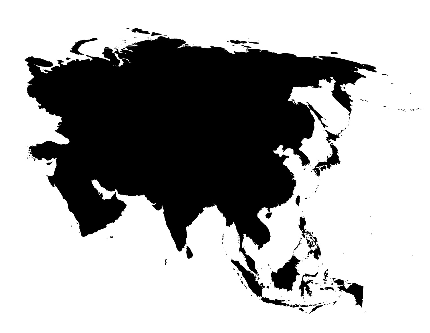 Printable Blank Map Of Asian Countries Also Political Europe Countries ...