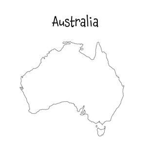 blank australia map