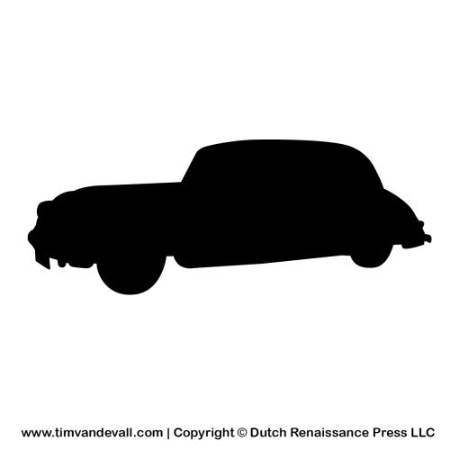 automobile silhouette stencil