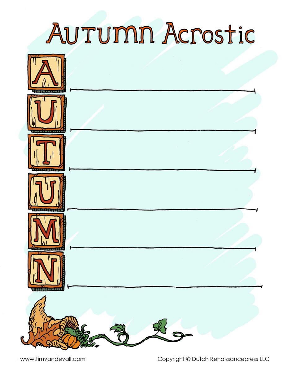Autumn acrostic poem template tims printables categories acrostic poems fall halloween templates thanksgiving pronofoot35fo Choice Image