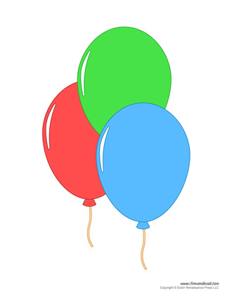 Printable Balloon Template | Birthday Printables