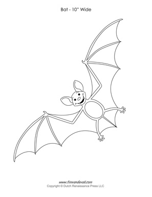 Bat Template to Cut Out