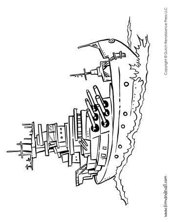 Battleship Coloring Page - Tim\'s Printables