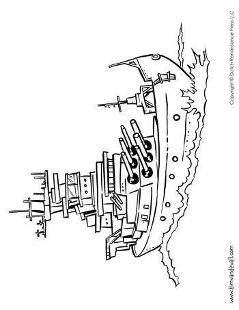Battleship Coloring Page Tim 39 s