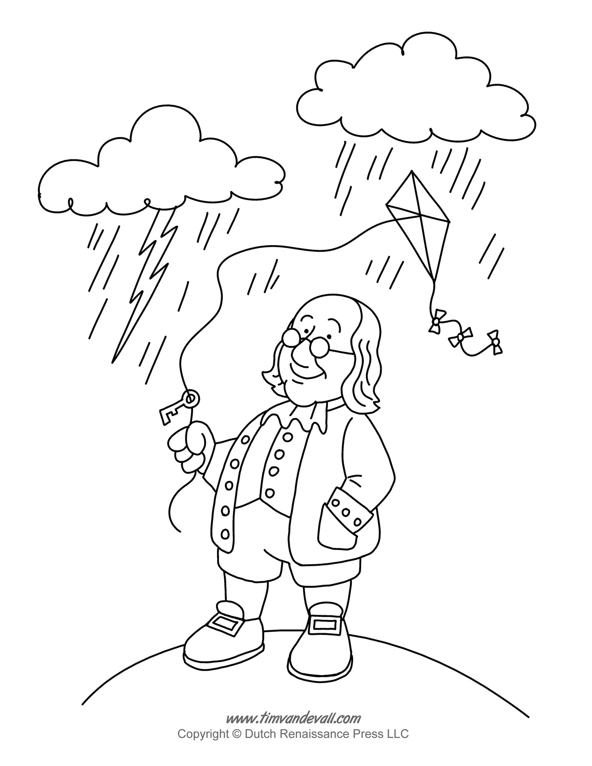 Ben Franklin Coloring Page Tim S Printables Gta 5 Coloring Pages