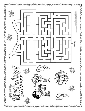 Birthday Maze Tim S Printables