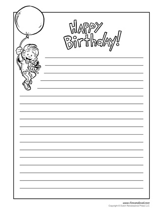 printable balloon template birthday printables birthday writing paper