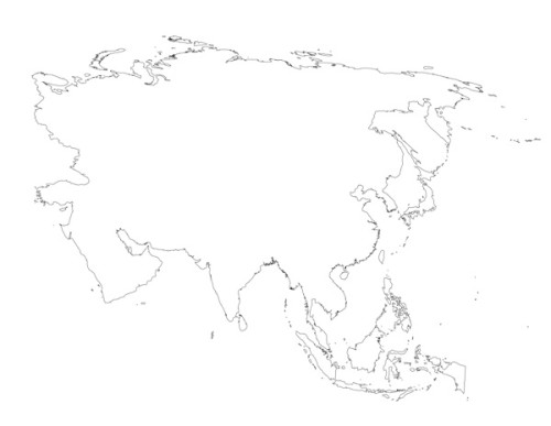 Top Blank Asia Map Images - Printable Map - New - bartosandrini.com