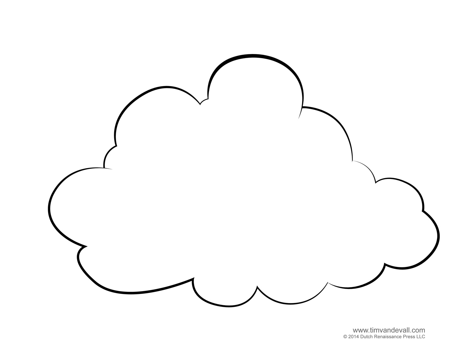 weather for kids cloud templates and weather coloring pages blank cloud template