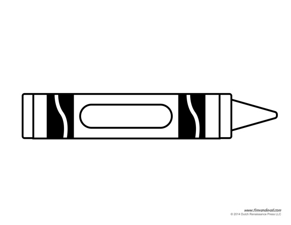 printable crayons coloring pages - photo#36