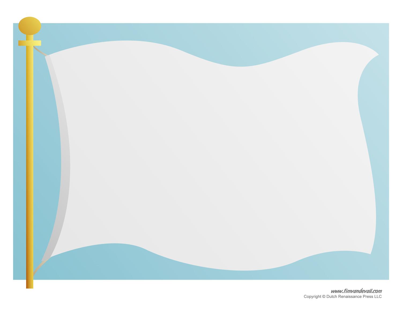 Blank Flag Template Printable Jpg 1500x1159