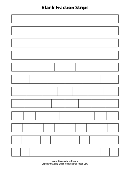 printable fraction bars equivalent chart Quotes