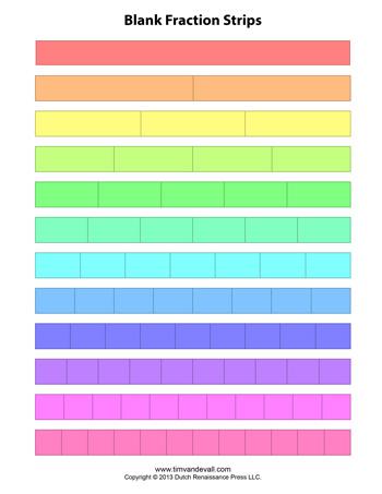 blank fraction strips tim 39 s printables. Black Bedroom Furniture Sets. Home Design Ideas