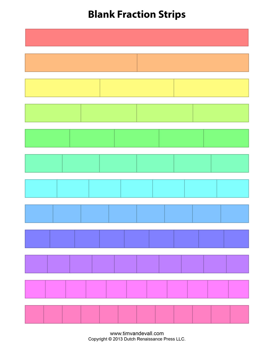Uncategorized Fraction Strip Worksheet blank fraction strips tims printables download printable