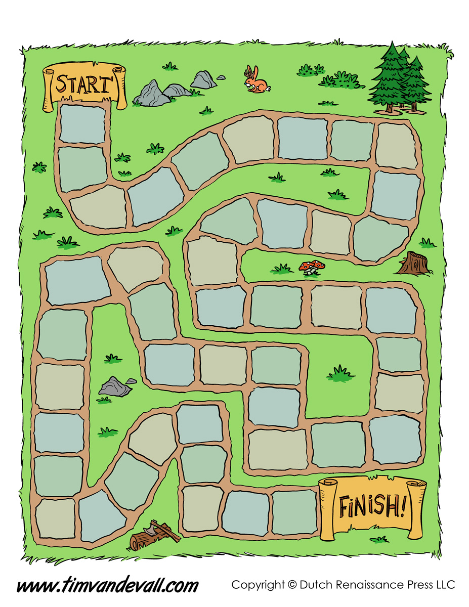 Game Board Template  Tim\u002639;s Printables