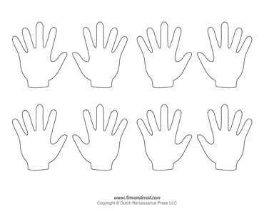 graphic regarding Printable Handprint titled Blank Hand Template Printables Handprint Templates