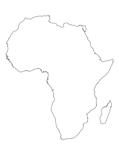africa map without countries