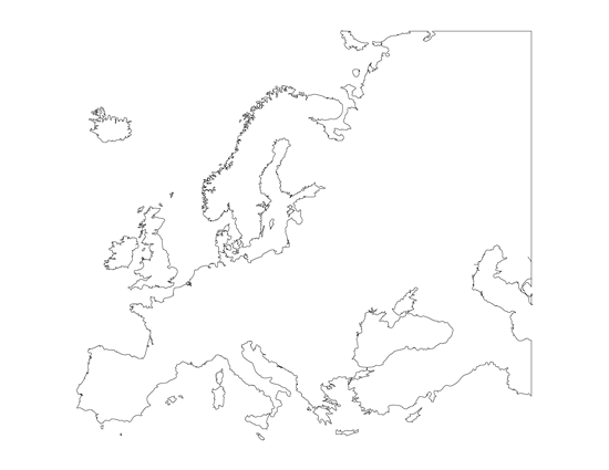 Printable Blank Map Of Europe - Europe blank map
