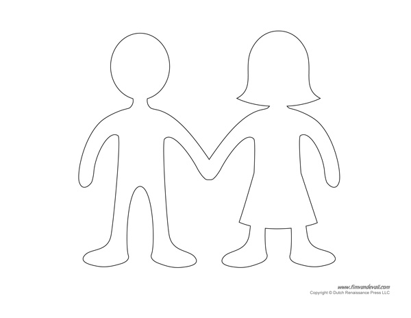 photo relating to Printable Paper Doll Template known as Printable Paper Doll Templates Produce Your Personal Paper Dolls