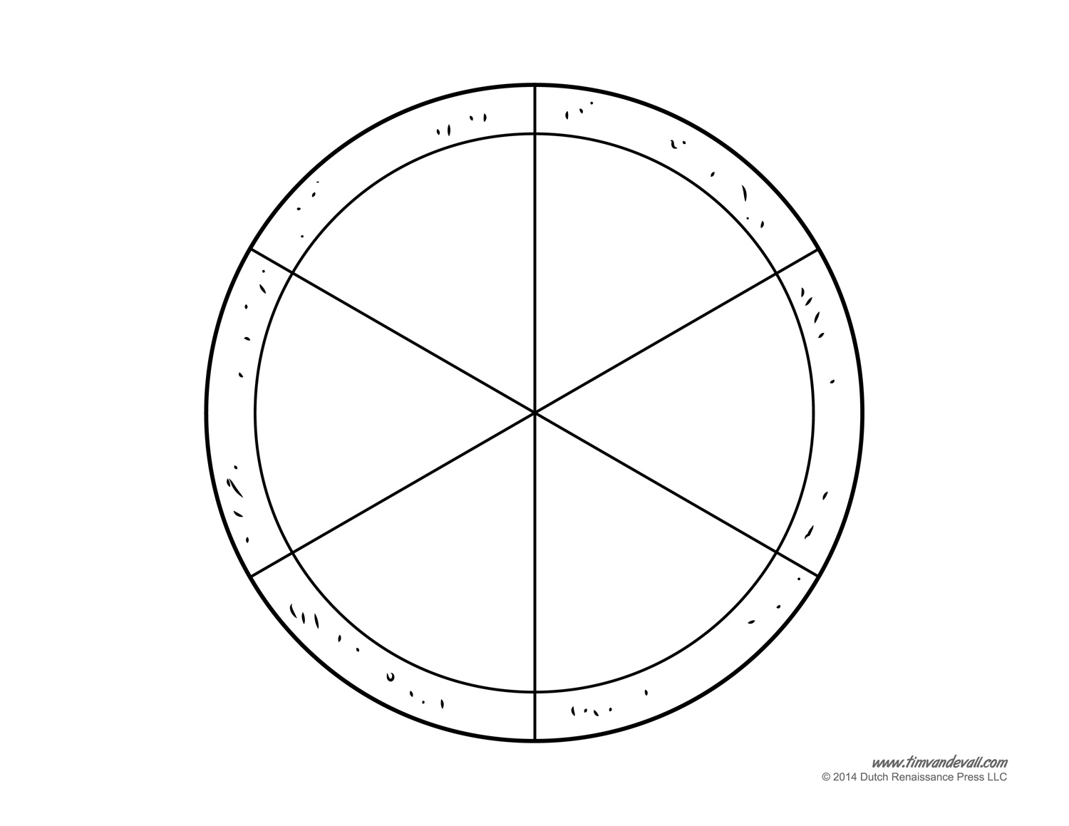 Blank Pizza Template – Pizza Fractions Worksheet