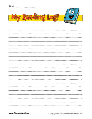 Reading Log  Blank  TimS Printables