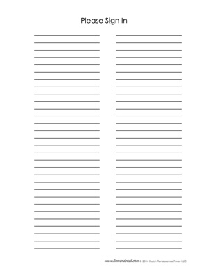 Following Sign Up Sheet Templates Contain Slots For A Visitor S Name ...
