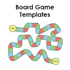 Blank Board Game Template Printables  Make Your Own Board