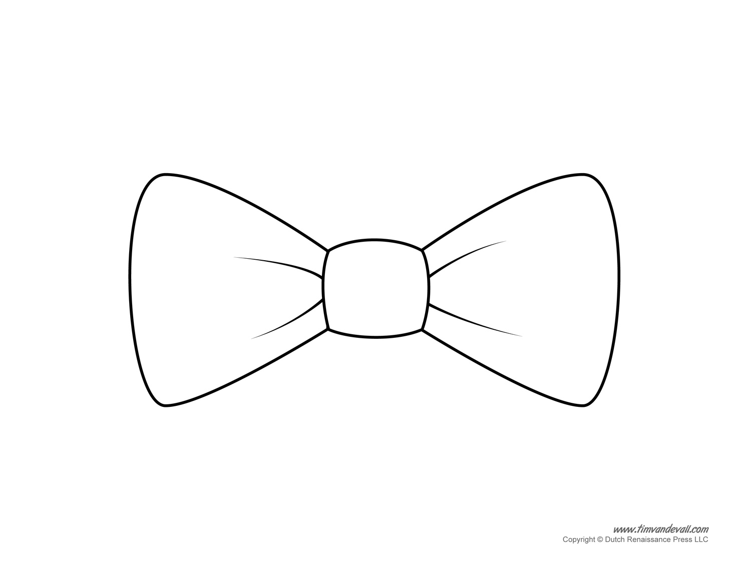 Tim van de vall comics printables for kids for Template of a bow