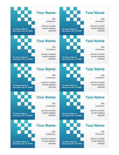 how to create a business card in word