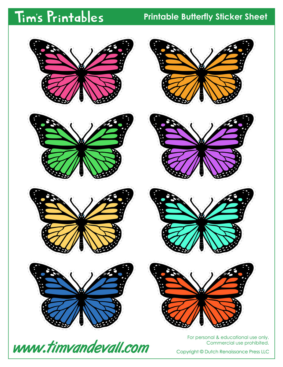 It is a photo of Persnickety Free Printable Butterflies