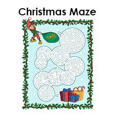 christmas maze printable