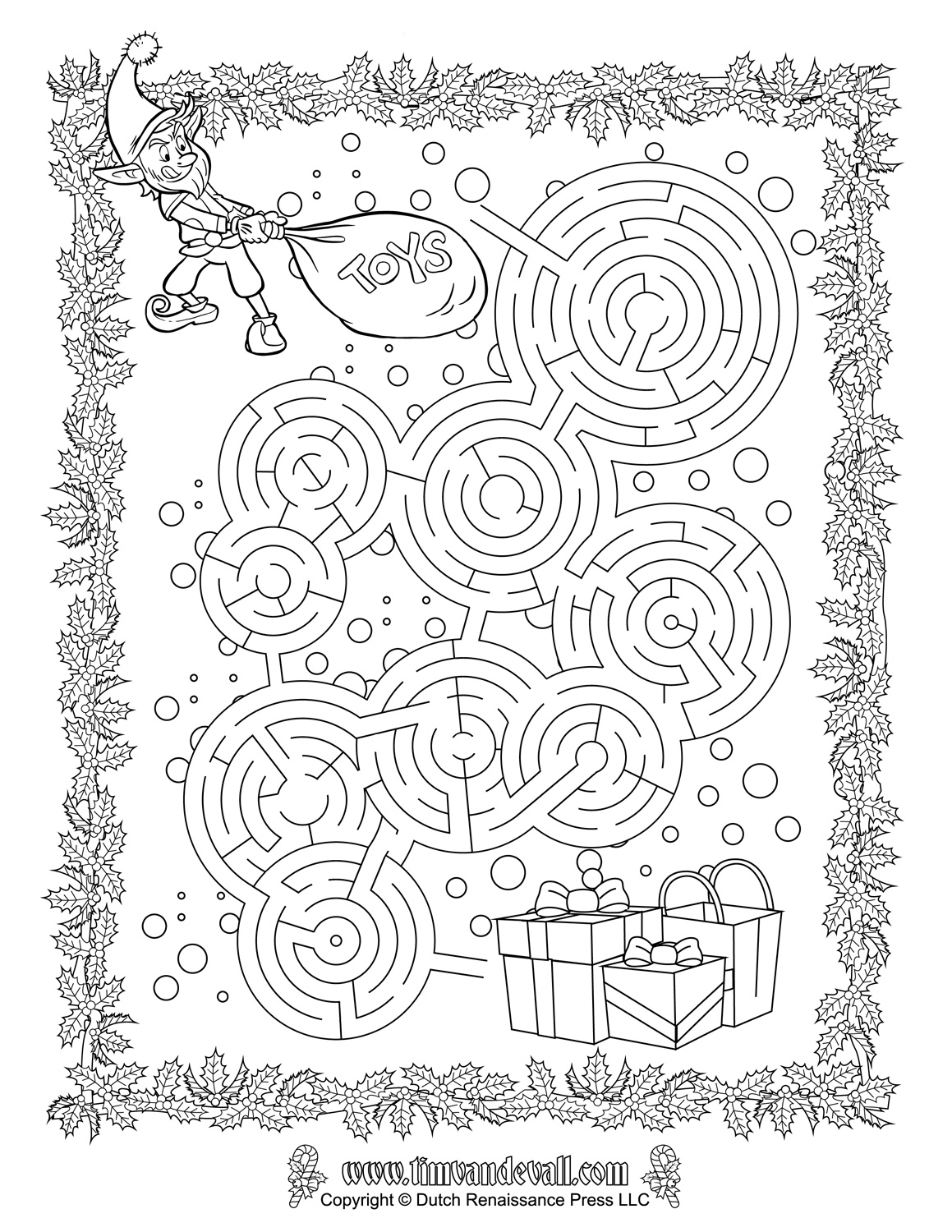 Christmas Maze Printable | Christmas Printables