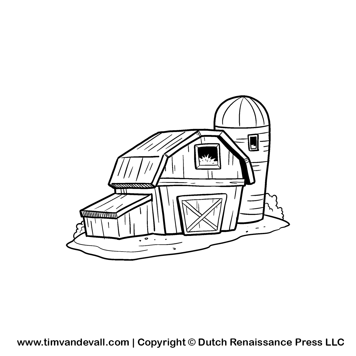 Barn Clipart Black And White Barn clip art