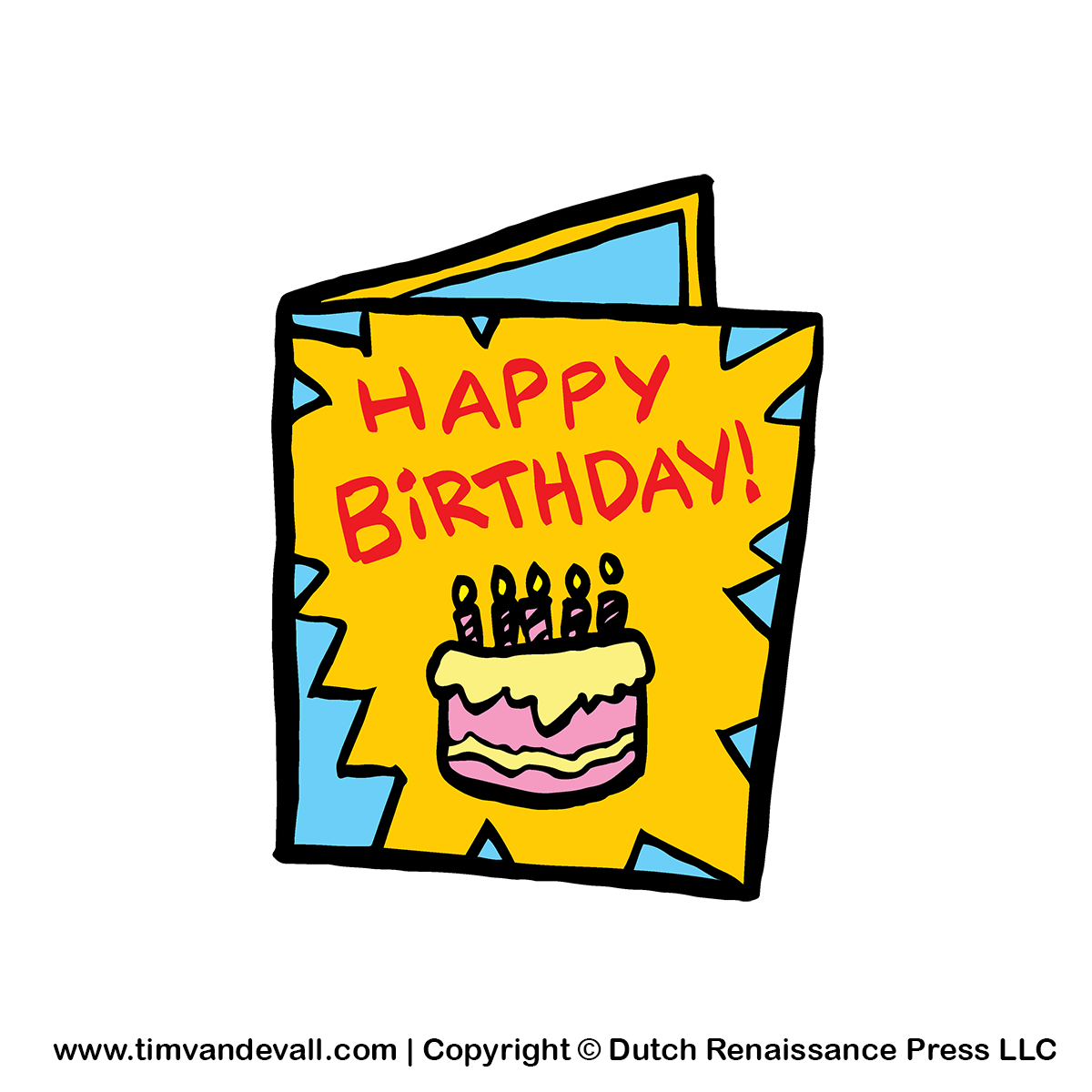 Birthday Card Clipart PNG Image for Birthday Parties and Decorations