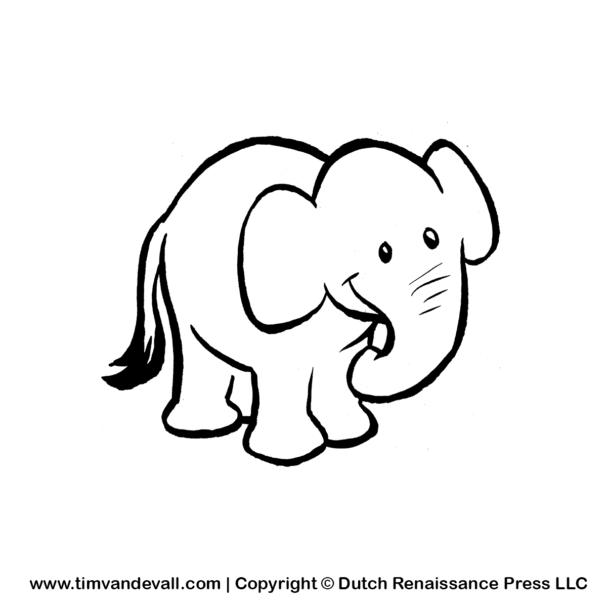 Free Printable Baby Elephant Stencil | New Style for 2016-2017